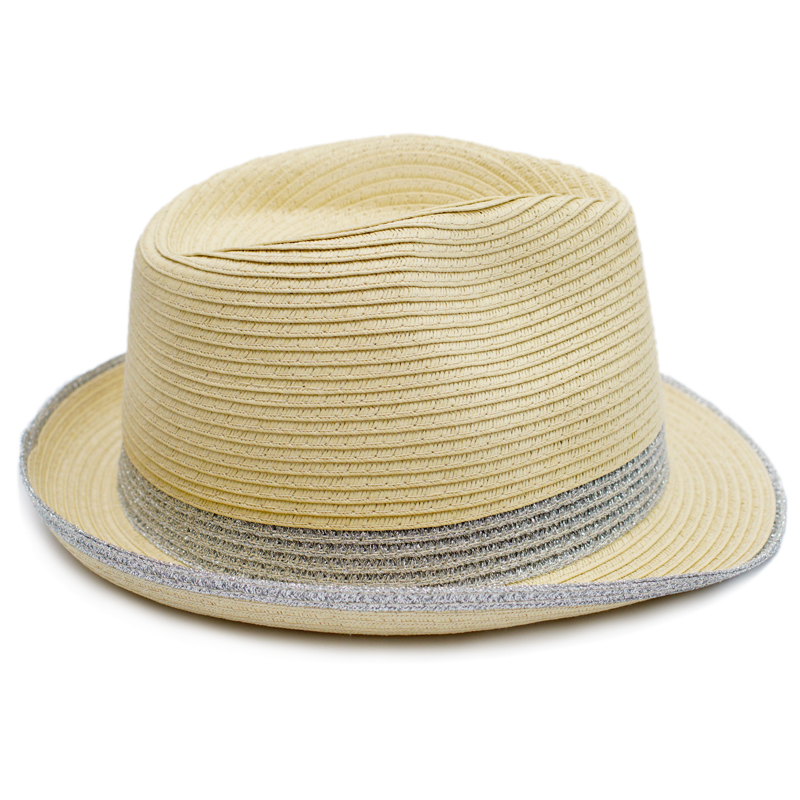 af13ef5bb423 Muchique 2017 Women's Summer Hats with Metallic Trim Fedora Paperbraid  Trilby in Chic Style -in Fedoras from Apparel Accessories on Aliexpress.com    Alibaba ...