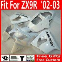 Горячие продажи все белый мотобайк частей для Kawasaki zx9r 2002 2003 обтекатели Ninja 02 03 ZX 9R зализа 7 подарки YNJ86