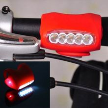 2017 MTB/ Cycling Bike Bicycle Red Silicone 7 LED Super Front Light Safety Lamp Free shipping AL0107