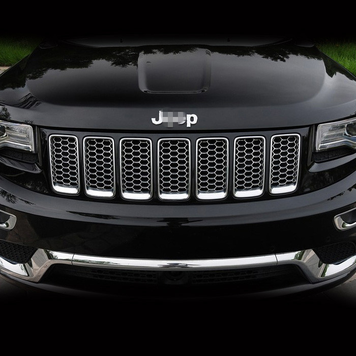 Jeep Grand Cherokee Limited 2014: 1Set Chrome ABS Mesh Grille Grill For 2014 Jeep Grand