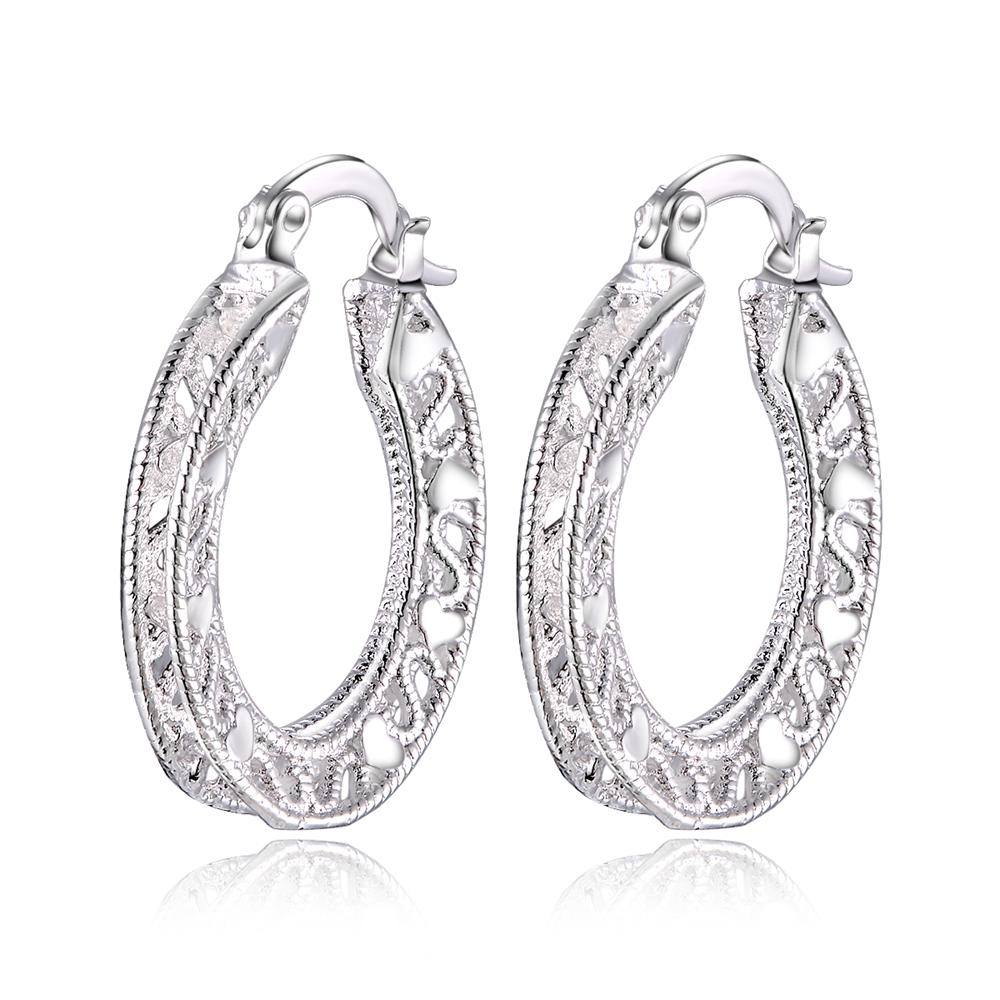 Купить серьги женские модные серебристые высокого качества ажурные