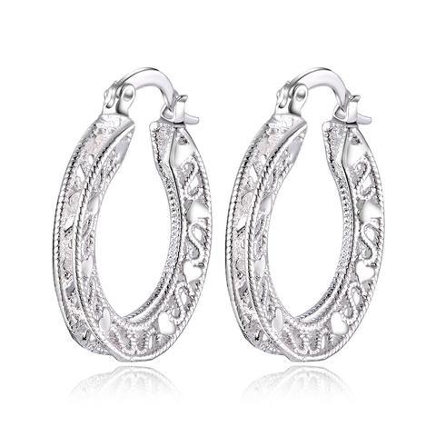 Серьги женские модные серебристые высокого качества ажурные