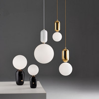 Modern Designer Minimalist Style Creative plated pendent lamp E27 led drop lighting for Dining Room cafe shop AC95 265V A325