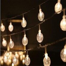 Novelty  5M 28LED Festoon Crystal ball String Lamps Fair Christmas Lights Garland Light Guirlande Lumineuse Wedding decoration