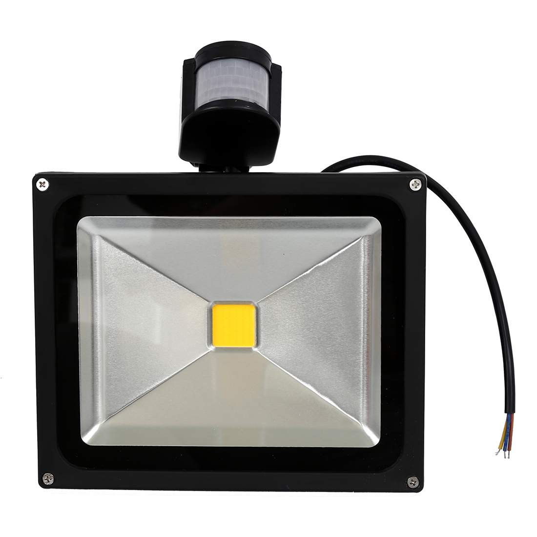 30W LED PIR Motion Sensor Flood Light Lamp White White 85-265V free shipping led flood outdoor floodlight 10w 20w 30w pir led flood light with motion sensor spotlight waterproof ac85 265v