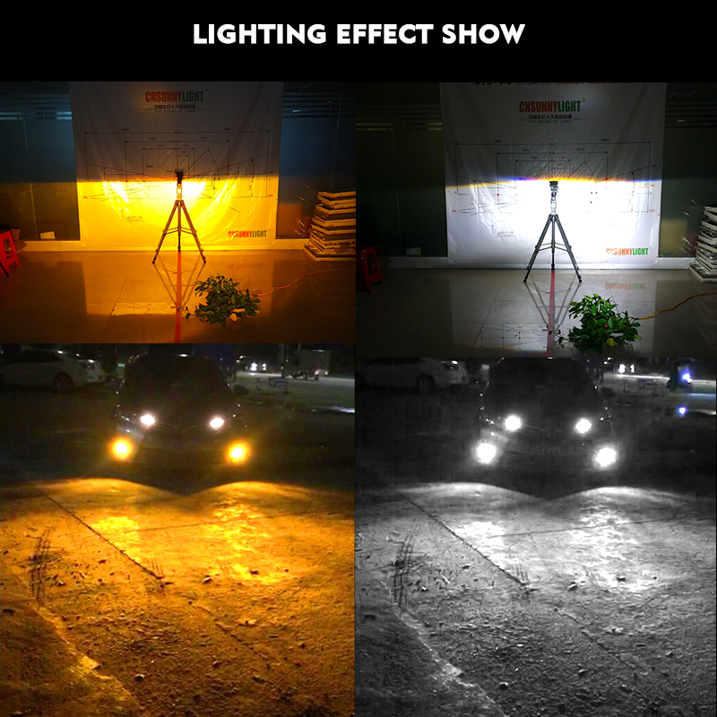 CNSUNNYLIGHT H11 H8 LED Car Bulbs Fog Light 9005 HB3 9006 HB4 2400Lm 6000K White 3000K Yellow H9 H16 High Power Auto DRL Foglamp (7)