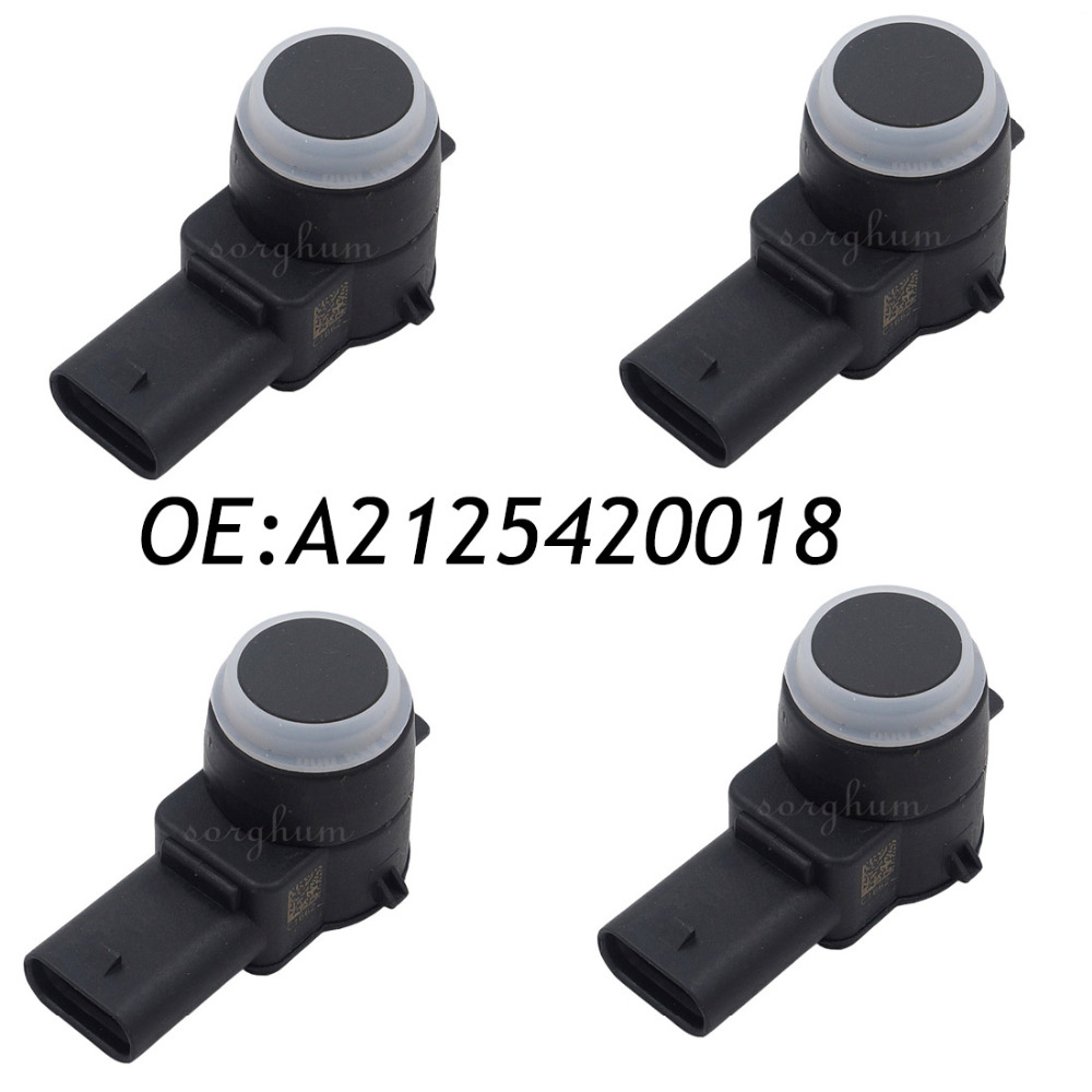 4PCS A2125420018 0263013999 PDC Parking Sensor For Mercedes Benz W212 W204 W221 mercedes w216 w221 parking brake shoe set x4 shoes springs clips emergency