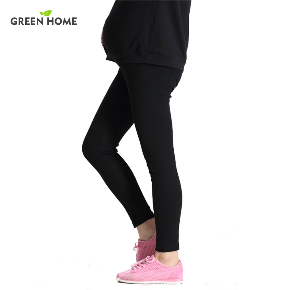 New 100%Cotton Women Pregnant Leggings Adjustable High Elasticity Maternity Leggings Pregnant Pants for Winter Maternity Pants