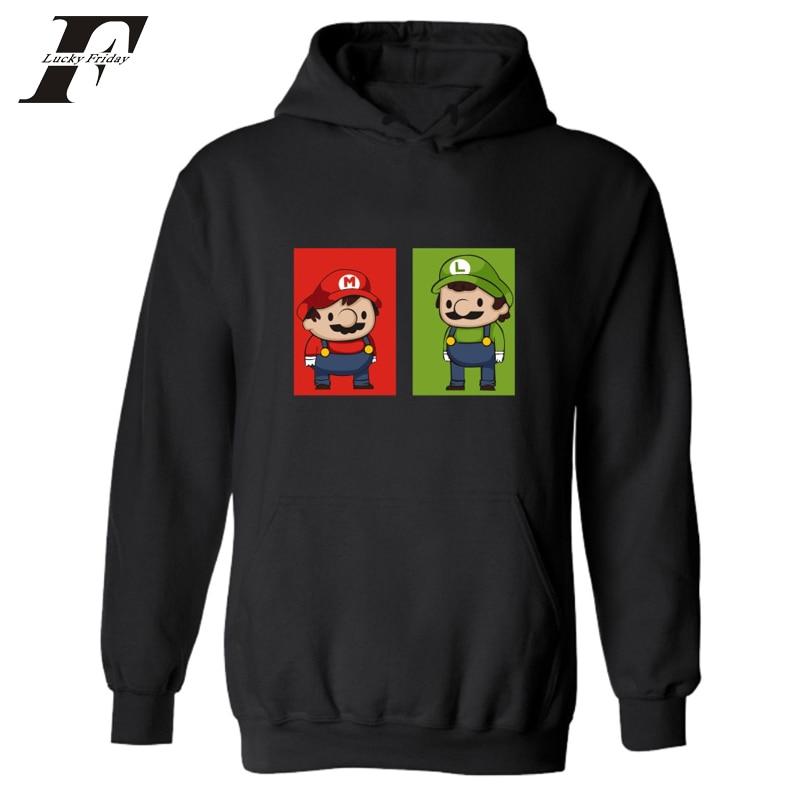 2017 Super MarioRun printed Hoodie sweatshirt men women Hoodies survetement trackusit Super Mario  Hoodies and Sweatshirts