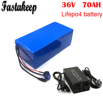 Galf cart battery 12S 36V 70AH Prismatic LiFePo4 Battery Pack with 12S BMS for EV AGV Solar with BMS and 5A charger image