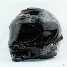 New personality Marushine C609 motorcycle helmet Half helmet Racing helmet Marushin grimace warrior style helmet Open face Cycle