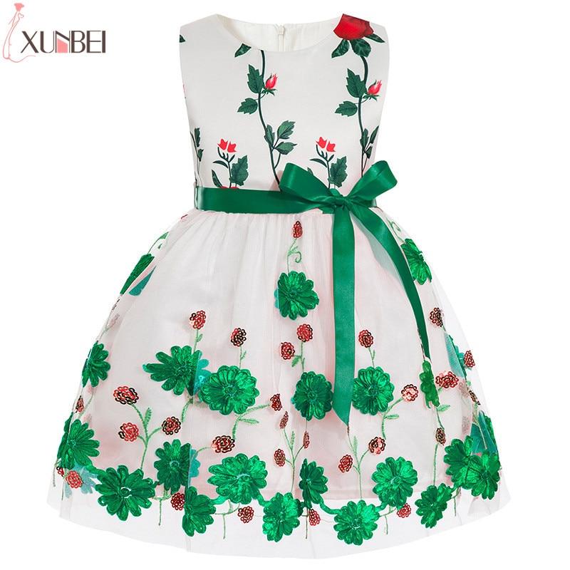 Lovely   Flower     Girl     Dresses   Cutton 2019 Leaf Appliqued Pageant   Dresses   For   Girls   First Communion   Dresses   Kids Prom   Dresses