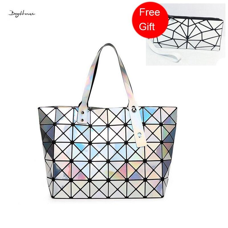 ФОТО With Logo BAOBAO ladies Top-handle bags designer hologram purses and handbags women famous brands beach tote bag bolsa feminina