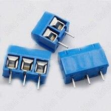 1000pcs KF301 Blue Binding Post 5mm Space KF301-2P / 3P Terminal Blocks 300V 15A