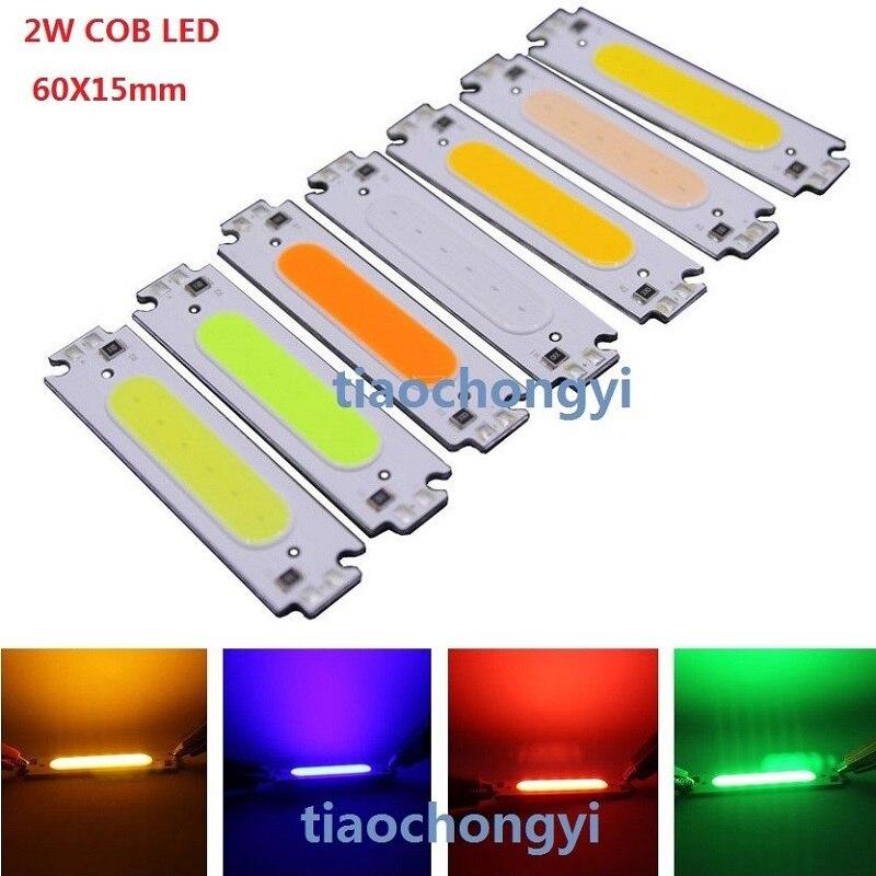 10 יחידות 2 w 12 v פס כחול ירוק אדום לבן cob מתח גבוה led led דיודה פולטת אור