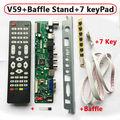 V59 Universal TV LCD Tablero de Conductor Del Controlador T. VST590.31 PAL TV + PC + AV + HDMI + USB V59 Controlador + Soporte + IR Remoto + 7 Tecla Swith + Bafle