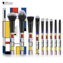 9 Набор макияжа PCS Набор Красный Синий Желтый Лицо Основание Порошок Румяна Макияж Кисти Kabuki Blending Brush Pincel Maquiagem