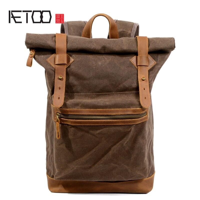 AETOO Wearable casual backpack men and women waterproof batik canvas backpack travel bag batik batik зимний комплект маруся 350 200гр сиреневый