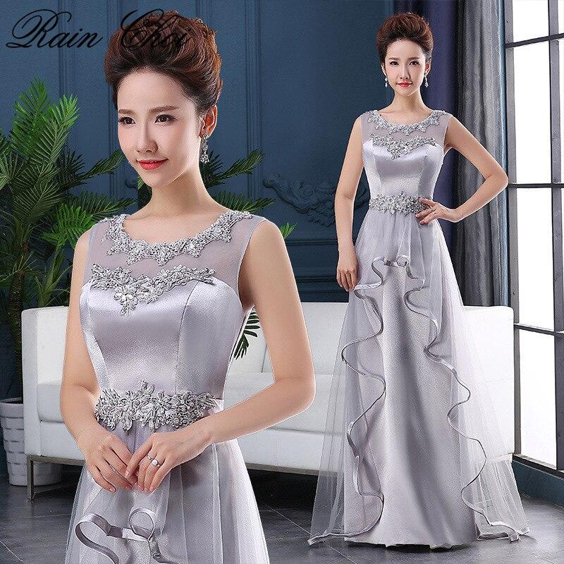 Robes de bal longues 2019 femmes élégante longueur de plancher robe de soirée de mariage formelle demoiselle d'honneur