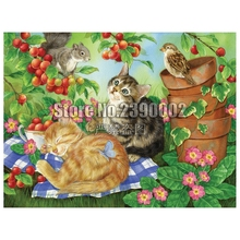 5D Diy Diamond Painting Squirrel butterfly Cross Stitch Embroidery Wall Sticker Mosaic Birds Cats Crafts Rhinestone