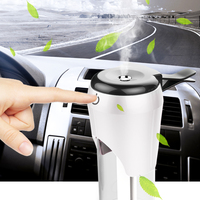 Universal Car Humidifier Dual USB 12V Car Charger Nebulizer Humidifier Mute Air Sterilization Auto Humidifier Aromatherapy