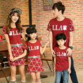 207 summer family look girl and mother dress mother father son outfits matching mother father baby daughter son clothes