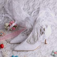 Wedopus Европейская Мода Стиль Белый Кот Кружева Свадебные Сапоги для Женщин На Высоких Каблуках