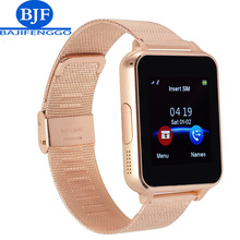 Apoyo Reloj Inteligente Bluetooth Tarjeta SIM TF Smartwatch Para Android whatsapp teléfono PK DZ09 Q18 Correas de acero V8 para Samsung xiaomi