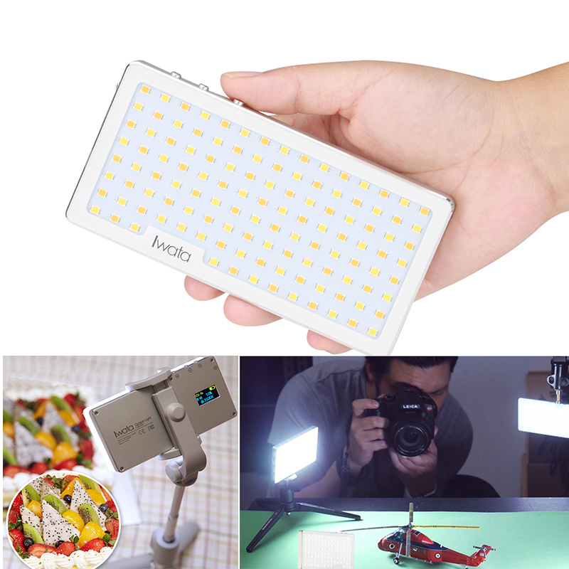 Ulanzi Iwata Ultra Thin Pocket Dimmable LED Video Light Aluminium Cover USB Rechargeable Selfie led Studio Light 3000K-5500K