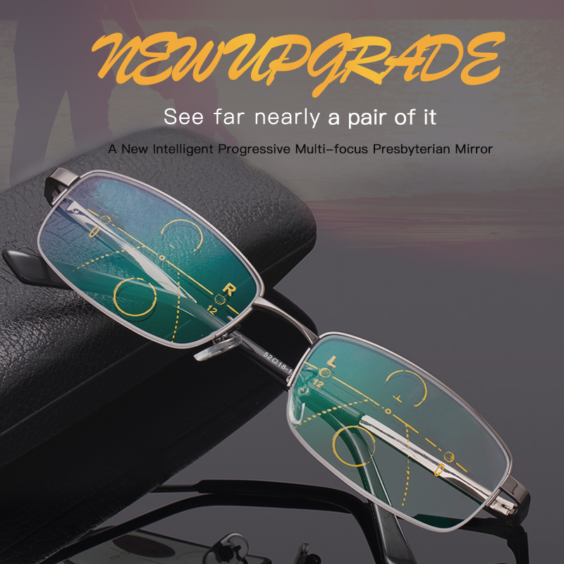 Intelligent presbyopisk briller mand langt og nær dual-purpose - Beklædningstilbehør