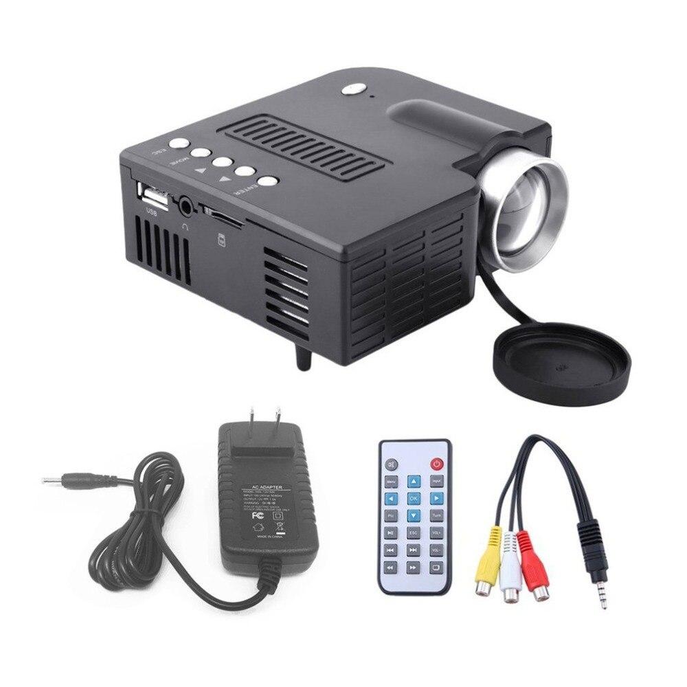 UC28A Mini Tragbare LED Projektor 1080 P LCD Multimedia Home Cinema Theater USB TF HDMI AV LED Beamer Projektor für heimgebrauch drop