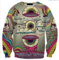 Skull Crewneck Eye Bird Printed Sweatshirt Women/Men Tracksuit Tops Jersey Plus Size S-5XL