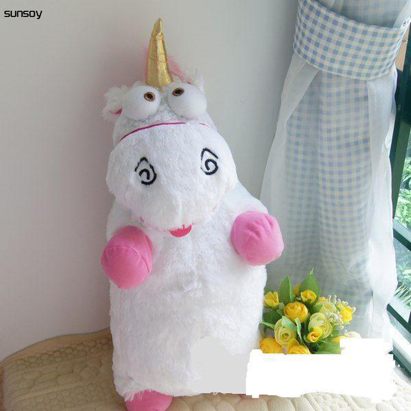 Hot Baby Toys Fluffy Unicorn Plush Doll 22.5Inch/57CM CUTE Good Quality IN STOCK Stuffed Toys Figure Doll For Children Girl Gift one piece lage size 20inch baby toys pokemon xerneas doll a cute plush toys for children stuffed pp cotton high quality
