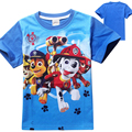 2016 Ropa de Bebé Niños Camiseta Del Verano de Dibujos Animados de Perro Camiseta Tops Tee Niños Ropa Perros Bebé Muchachos Camisetas Camiseta de las Muchachas de Patrulla
