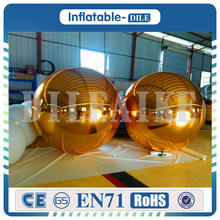 Free Shipping 1m PVC Mirror Ball For Stage Decoration Fashion Hot Selling Inflatable Ballons Gold