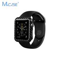 Mcase Luxury Real Carbon Fiber For Apple Watch Edition Series 2 42mm or 38mm Genuine Ultra Thin Case Cover For iWatch