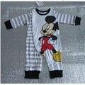 Venta caliente de Mickey Del Bebé de Los Mamelucos Del Bebé de Calidad Superior ropa del bebé mono recién nacido bebe infantil roupa traje