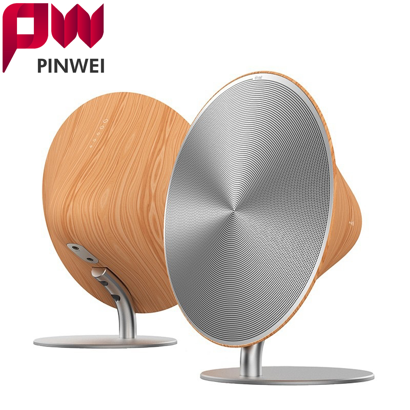 PINWEI Wooden Bluetooth Speaker Wood Coat Wireless Bluetooth For MP3 Surround Sound Touch NFC MP3 Speakers For Hifi DCY05  цена и фото