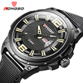 Longbo marca negócios sportsn dia e data do calendário mens watch relógio de pulso de couro marca de luxo relógios montre presente 3005