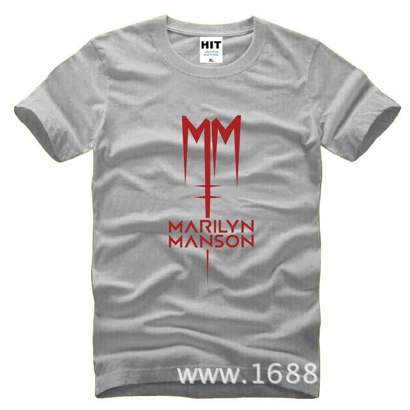 Classic Marilyn Manson Rock T-shirt Heren Heren T-shirt 2016 Korte - Herenkleding - Foto 3