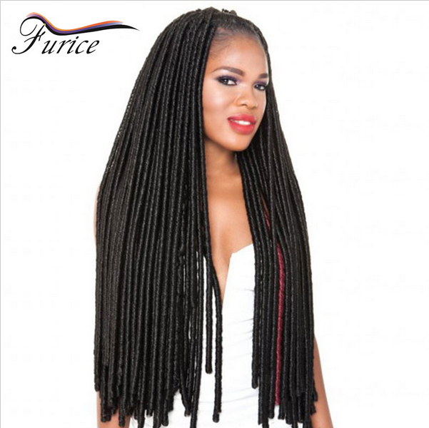 Faux Locs Crochet Hair Long Dreadlocks Extensions Curly Dreads ...