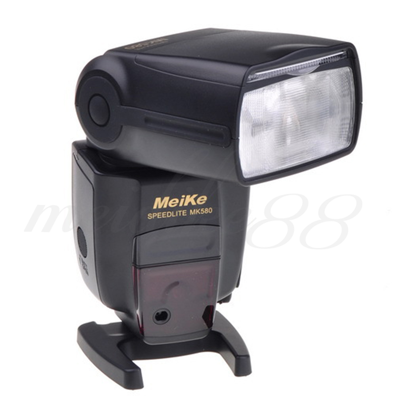 High Quality Meike MK-580 MK580 E-TTL Flashgun Speedlite Camera flash light for Canon 580EX II 5D III 7D 60D 650D mini flash light meike mk320 mk 320 mk320 c gn32 ettl speedlite for can 60d 7d 6d 70d dslr