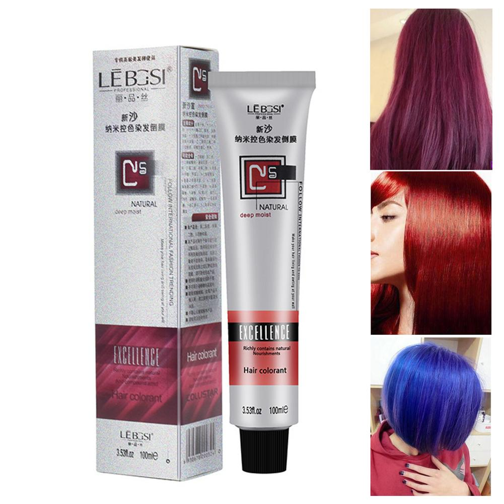 35# Fashion 8 Colors 100g Hair Tint Semi Permanent Long Lasing Professional Hair Bright Cream Color Dye Paint image
