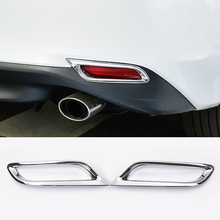 For Toyota Camry 8th XV70 2018 ABS Chrome Car Back Frame Rear Fog Light Decoration Lamp Covers Trim Car accessories styling 2pcs citall 2pcs abs black headlight head lamp light brow deco cover trim sticker car styling fit for toyota camry se xse 2018 2019