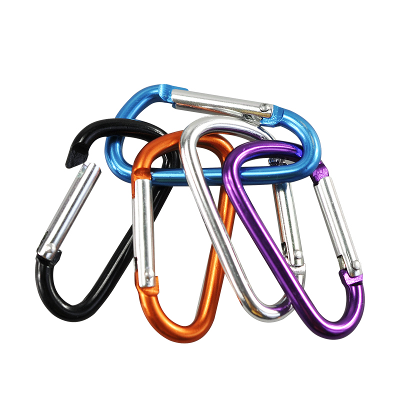10PCs Outdoor Sports Multi Colors Aluminium Alloy Safety Buckle Keychain Climbing Button Carabiner Camping Hiking Hook