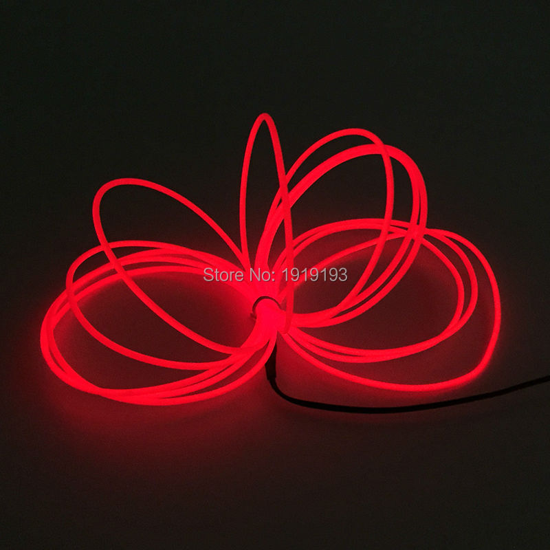 15Meters 3.2mm 10 color Select EL Wire Advertising LED Strip Flexible Rope Tube Neon Cold Light Glow+ DC-5V USB El driver