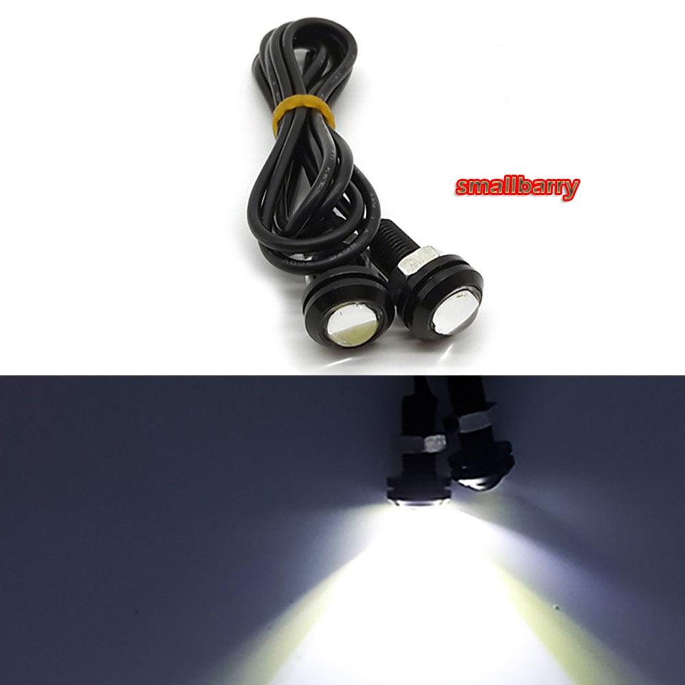 1 pcs Novo 3 W 18mm cor shell preto Daytime Running Luzes LED de Alta - Faróis do carro - Foto 4