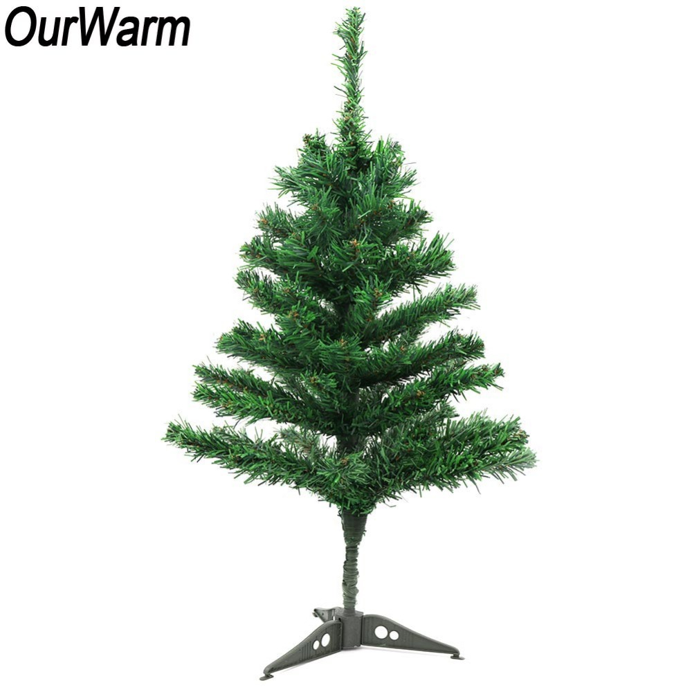 ourwarm fake christmas tree home decor with stand holder base new year 2019 diy crafts table