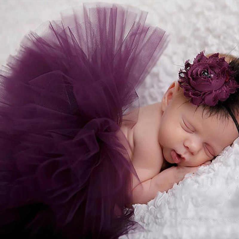 Лидер продаж реквизит для фотографии новорожденных Детский костюм наряд для маленькой принцессы юбка-пачка повязка на голову Детские Симпатичные юбка