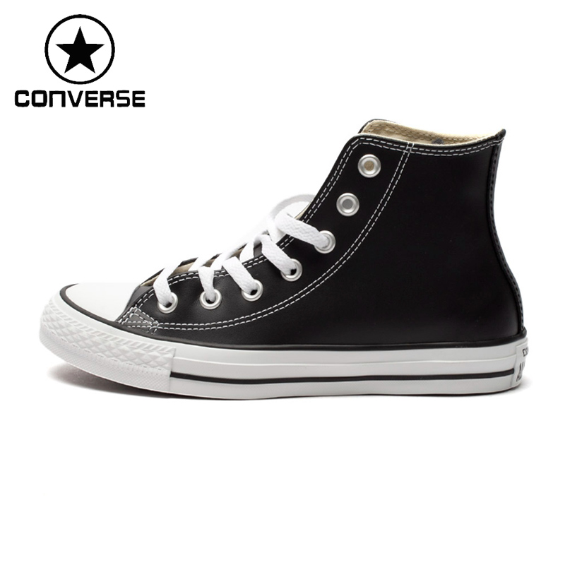 Original New Arrival Converse High Top Classic Unisex Leather Skateboarding Shoes Sneakser the new puma womens shoes classic high classic star high tongue series white leather laser badminton shoes